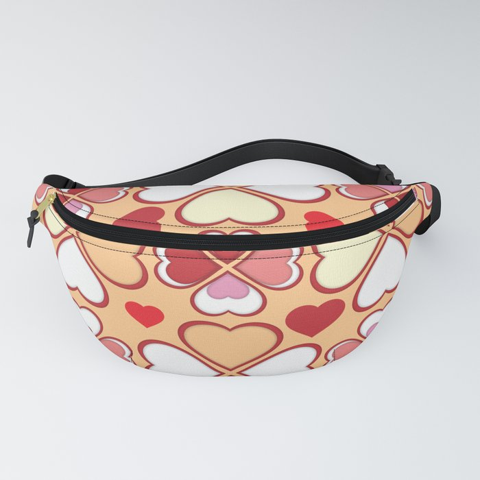 Hearts Flower Creation 4 Fanny Pack