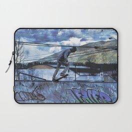 Tipping Point -Skateboarder Launching - Outdoor Sports Laptop Sleeve