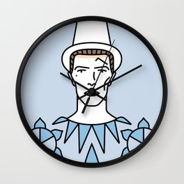 David Bowie – Pierrot in Turquoise Wall Clock