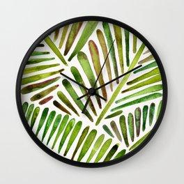 Tropical Banana Leaves – Green Palette Wall Clock