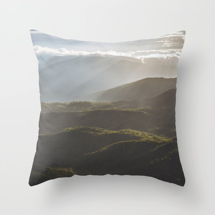 Sunrise In North Georgia Mountains 6 Throw Pillow