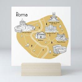 Mapping Roma - Yellow Mini Art Print
