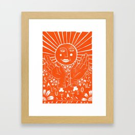 Sun Salutations Framed Art Print
