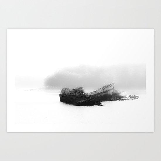 Ship Cemetery Art Print