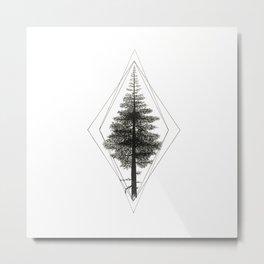 Geometree Metal Print