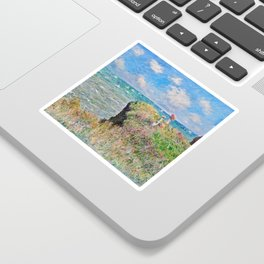 Claude Monet Cliff Walk At Pourville 1882 Sticker