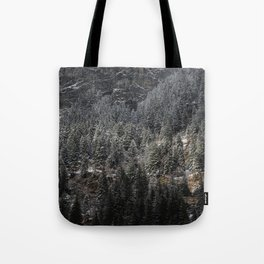 Powdered Mountain Tote Bag
