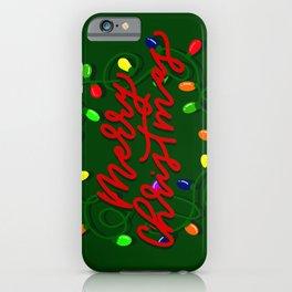 christmas lighting iPhone Case