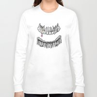 tooth Long Sleeve T-shirts featuring Sweet Tooth by Corinne Elyse