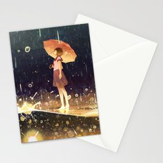 shower of meteors Stationery Cards