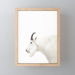 NORDIC MOUNTAIN GOAT Framed Mini Art Print