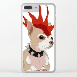 Bad Ass Chihuahua Clear iPhone Case
