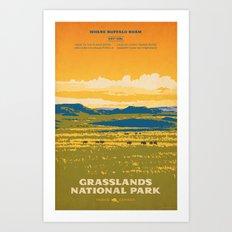 Grasslands National Park Poster Art Print