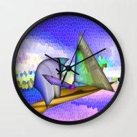 sailing Wall Clocks featuring Sailing by Digital-Art