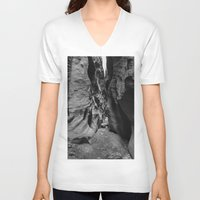 utah V-neck T-shirts featuring Slot Canyon, Utah by Lost In Nature