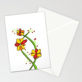 a colourful floral design Stationery Cards