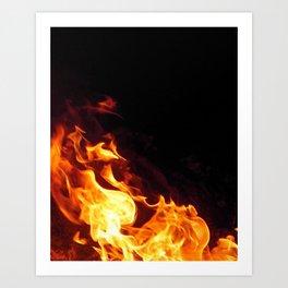 Fire Flicker Art Print