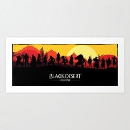 Black Desert Online Poster Art Print