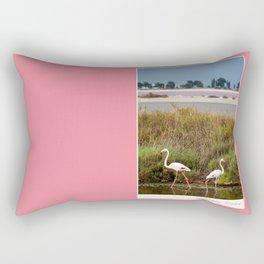 Flamingos in Camargue Rectangular Pillow