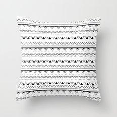 White&Black pattern Throw Pillow