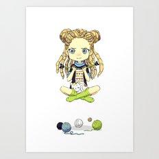 Knitting Meditation Art Print