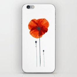 Poppy poppy poppy iPhone Skin