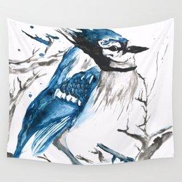 True Blue Jay Wall Tapestry
