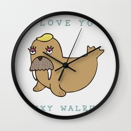 SEXY WALRUS Wall Clock