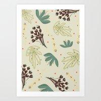leaf Art Prints featuring leaf by Ceren Aksu Dikenci