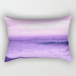 Beautiful Purple Oceanside Rectangular Pillow