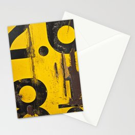 black numbers on yellow background Stationery Cards