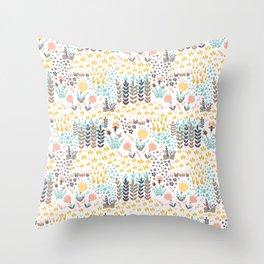 Lady's Slipper Throw Pillow