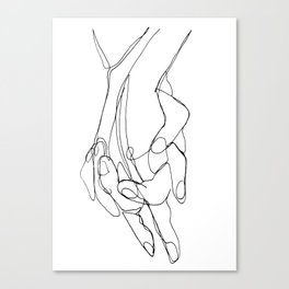 One Line Love Canvas Print