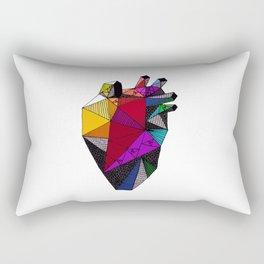 Rainbow Heart Rectangular Pillow