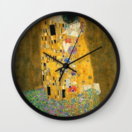 The Kiss, Fine Art Print, Gustav Klimt, Wedding Love Romance Gift Wall Clock