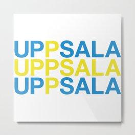 UPPSALA Swedish Flag Metal Print