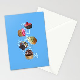 Android Eats: cupcake peg Stationery Cards