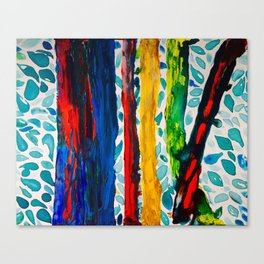 Rainbow Eucalyptus Graffiti Artist Tree naturally shedding bark from the South Pacific Canvas Print