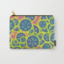 Random blue gearwheels Carry-All Pouch