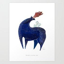 THE LETTER D for Deer Art Print
