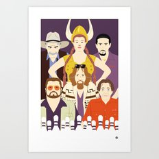 Around The Dude (Faces & Movies) Art Print