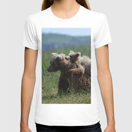 Alaska Grizzly Mother And A Cub In Katmai National Park #Society6 T-shirt