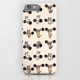 Olympic Lifting Chihuahua iPhone Case