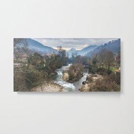 Mountain river Sella Metal Print