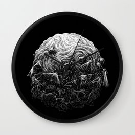 Scratchboard #9 Moths Wall Clock