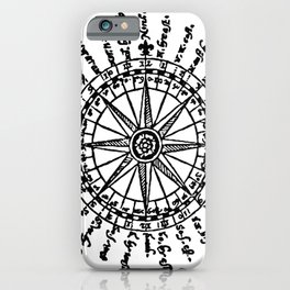 A Mariners Compass. The Seaman's Secrets. iPhone Case
