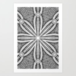 Black-and-White Abstract 15 Art Print