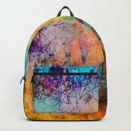 Vibrant Constellations Abstract Design Backpack