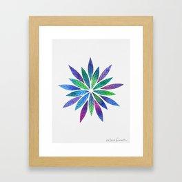 Burst of Leaves Framed Art Print