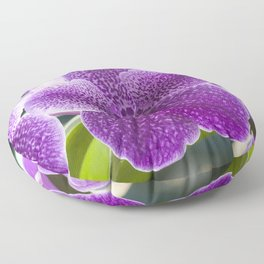 Tropical Orchid Floor Pillow